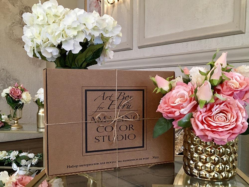 Купить Набор для эбру «Сказка» с гребнем, 10 цветов, Amazing Color, skazka-z-grebnem
