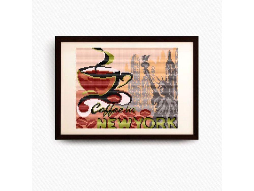 Купить Рисунок на ткани «на кофе в Нью-Йорк», Арт Соло, VKA4403