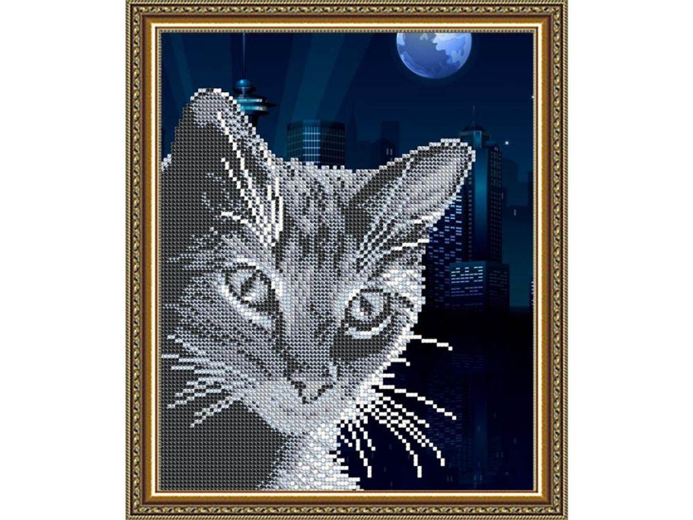 Купить Рисунок на ткани «Хитрый Кот», Арт Соло, VKA4059