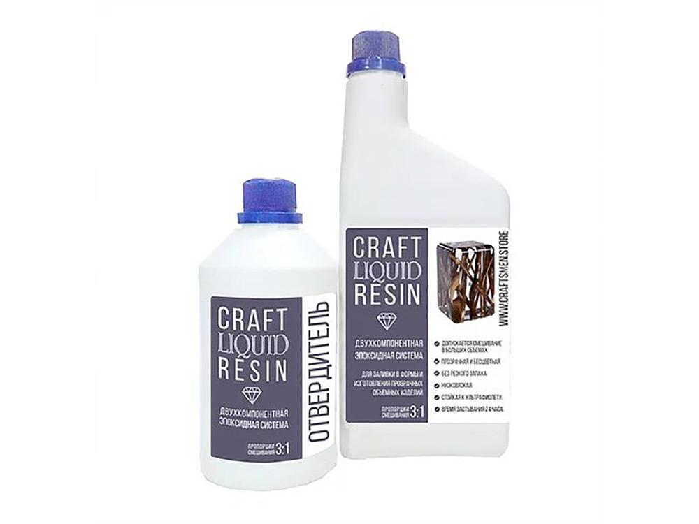 Купить Прозрачная эпоксидная смола для объемных отливок 1, 35 кг, CraftLiquidResin, Craftsmen.store, пс13