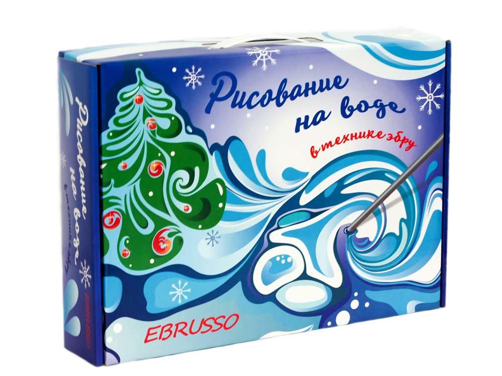 Купить Набор для эбру «Зима» 8 цветов, Ebrusso, EBR29