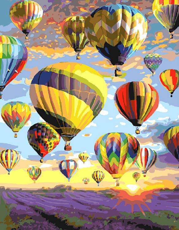 Купить Картина по номерам «Полёт над лавандовым полем», Paintboy (Premium), Китай, GX28734