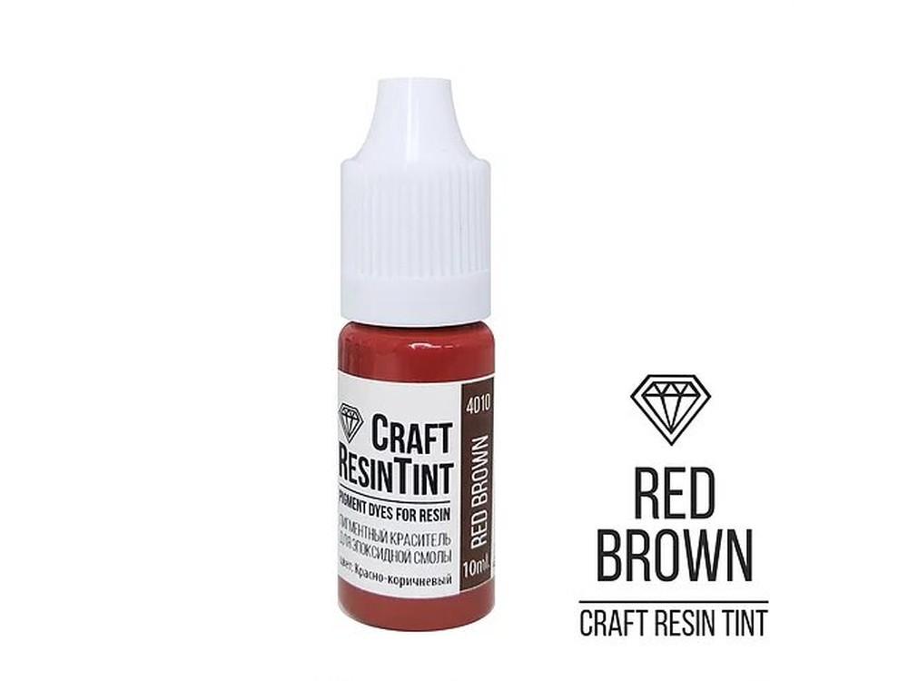 Купить Краситель для смолы и полимеров красно-коричневый 10 мл, CraftResinTint, Craftsmen.store, PD-4110