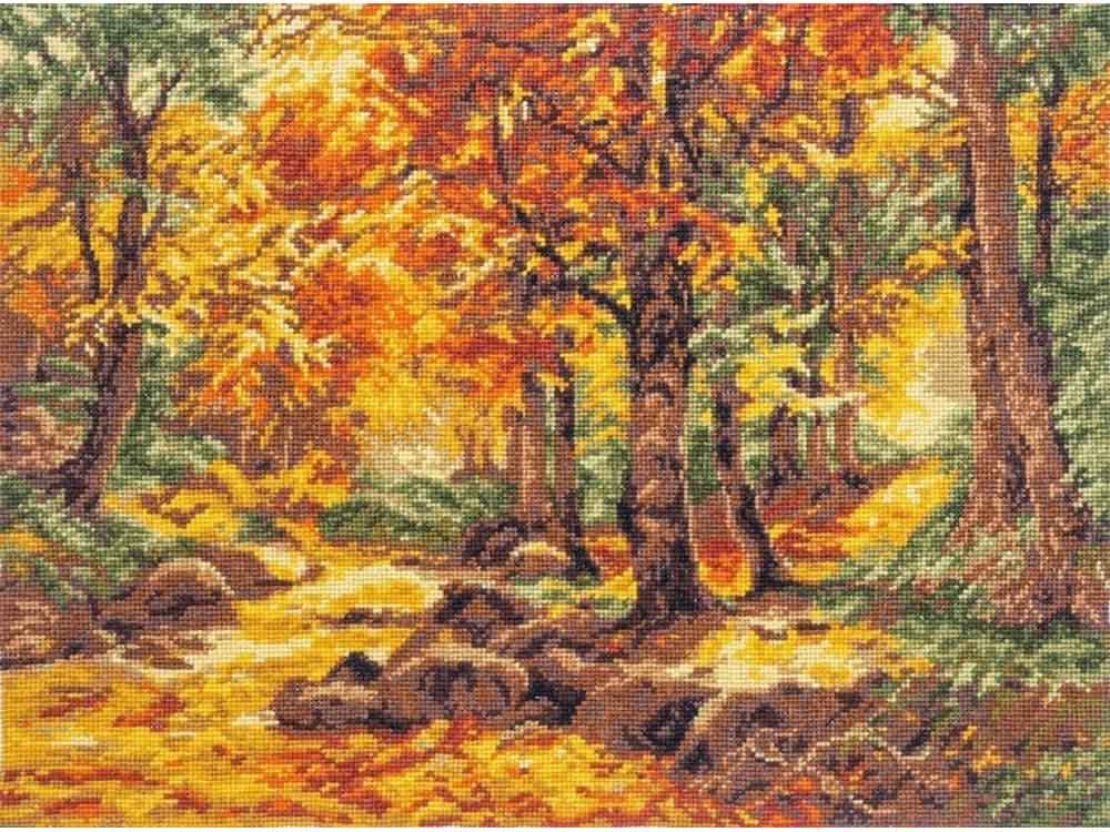 Купить Вышивка крестом, Набор для вышивания «Осенний пейзаж», Палитра, 36x26 см, 08.030