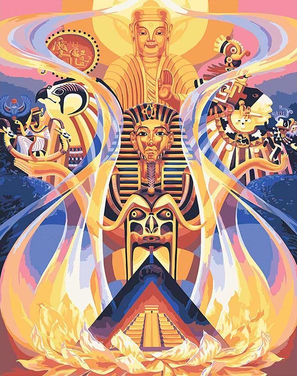 Купить Картина по номерам «Древняя мудрость» + в наборе подарок, Mantra Art, Россия, 5005