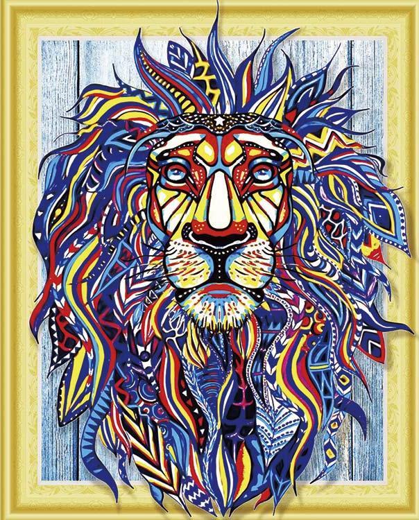Купить Алмазная вышивка 5D «Искрящийся лев», Painting Diamond, 40x50 см, LP023