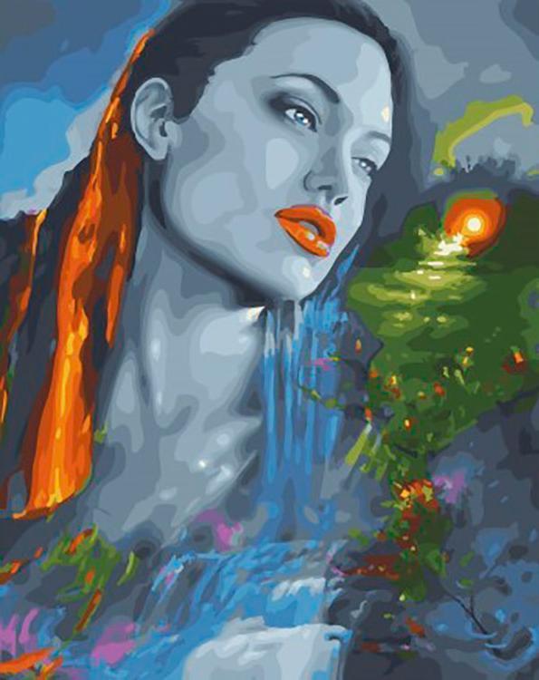 Купить Картина по номерам «Анджелина на закате», ВанГогВоМне, ZX22300