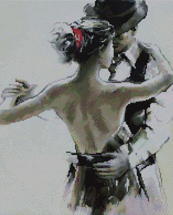 Купить Алмазная вышивка «Танец на двоих», Painting Diamond, 40x50 см, APK16054