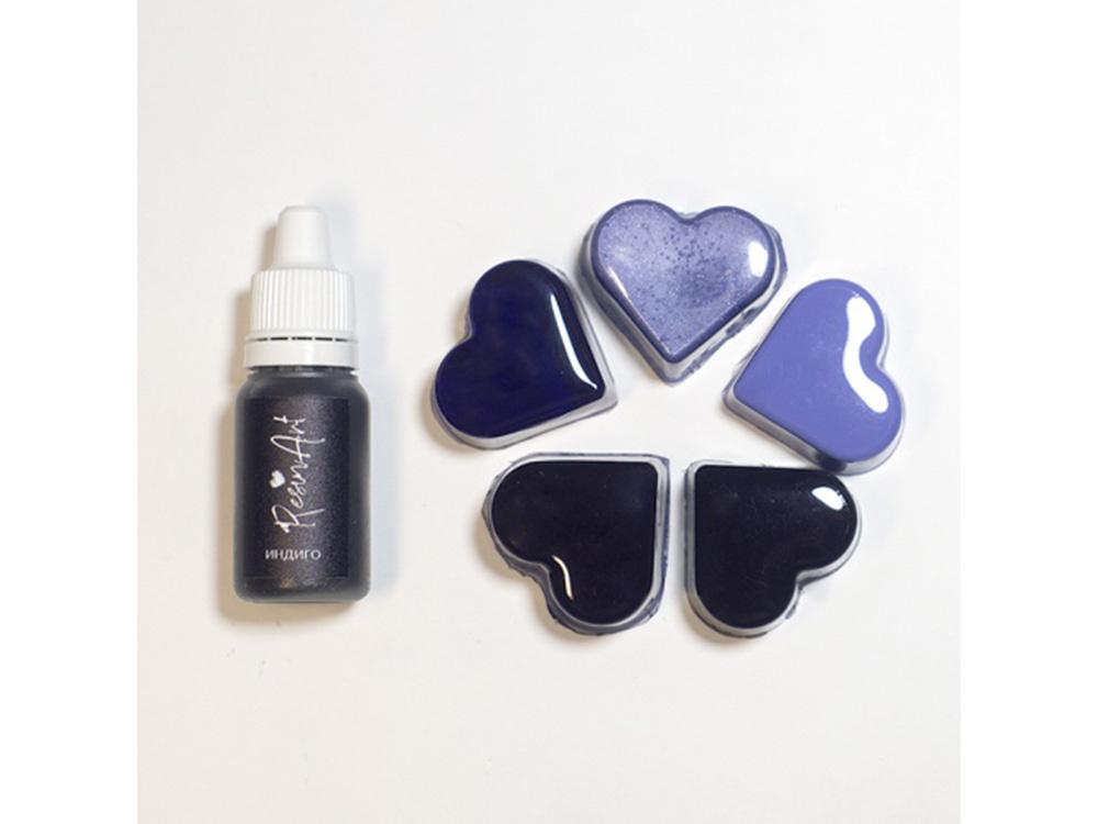 Краситель для эпоксидной смолы индиго 10 мл, ResinArt, indigo  - купить со скидкой