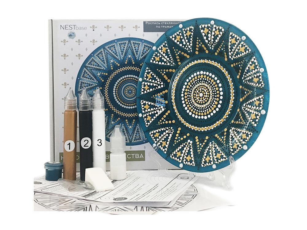 Купить Набор для точечной росписи «Blue Plate», NESTbase, 120602