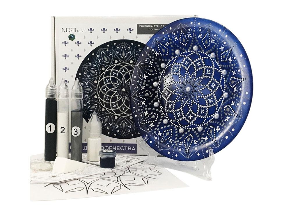 Купить Набор для точечной росписи «Dark Blue Plate», NESTbase, 120603_01