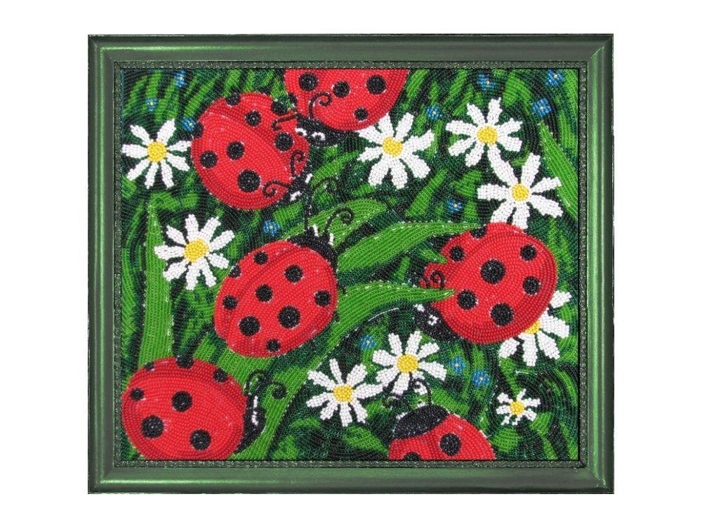 Купить Вышивка бисером, Набор для вышивания бисером «Солнышки», Butterfly, 24x28 см, 104