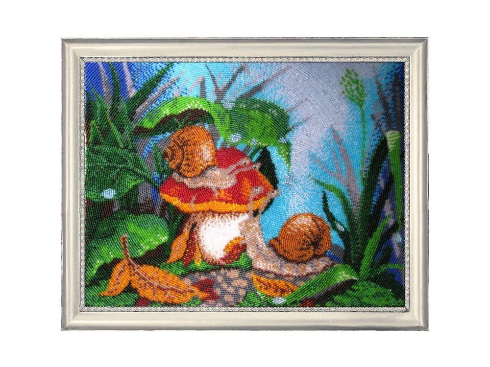 Купить Вышивка бисером, Набор для вышивания бисером «Улитки», Butterfly, 25x33 см, 108