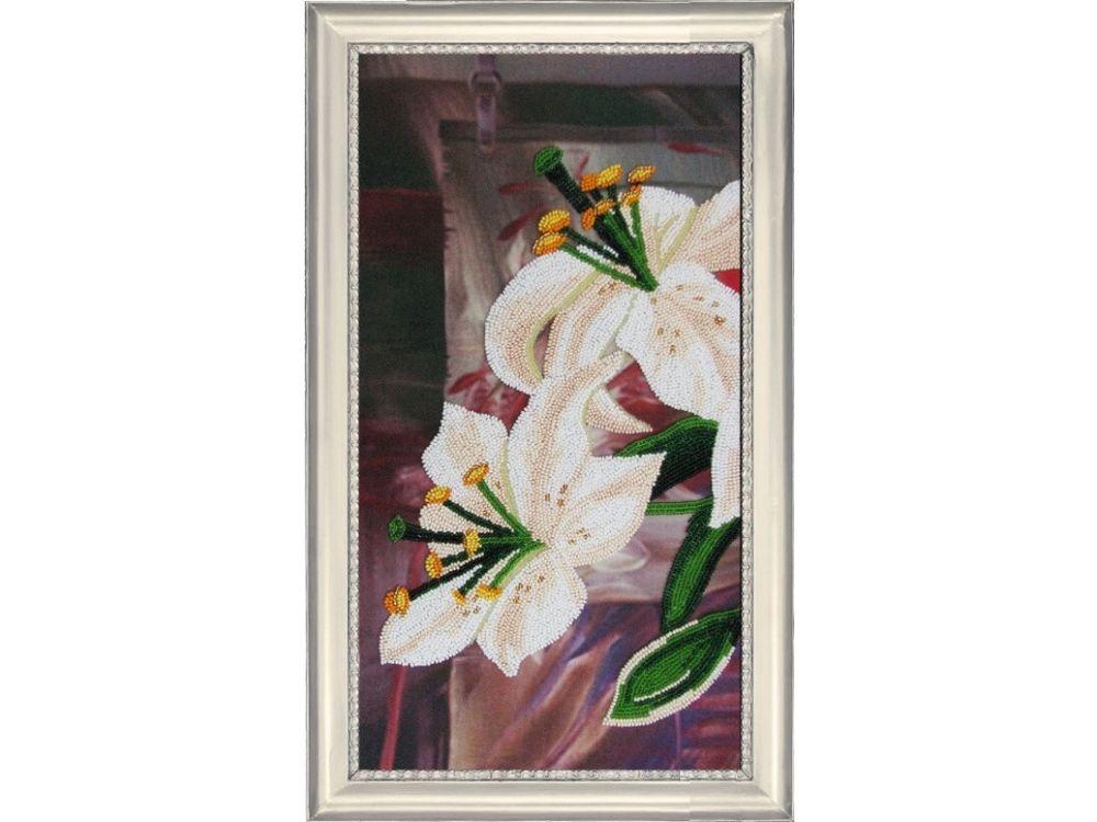 Купить Вышивка бисером, Набор для вышивания бисером «Лилии 1», Butterfly, 37x20 см, 209