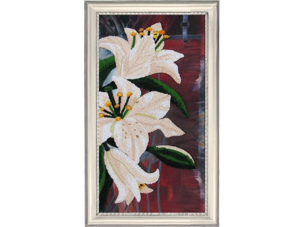 Купить Вышивка бисером, Набор для вышивания бисером «Лилии 3», Butterfly, 37x20 см, 211