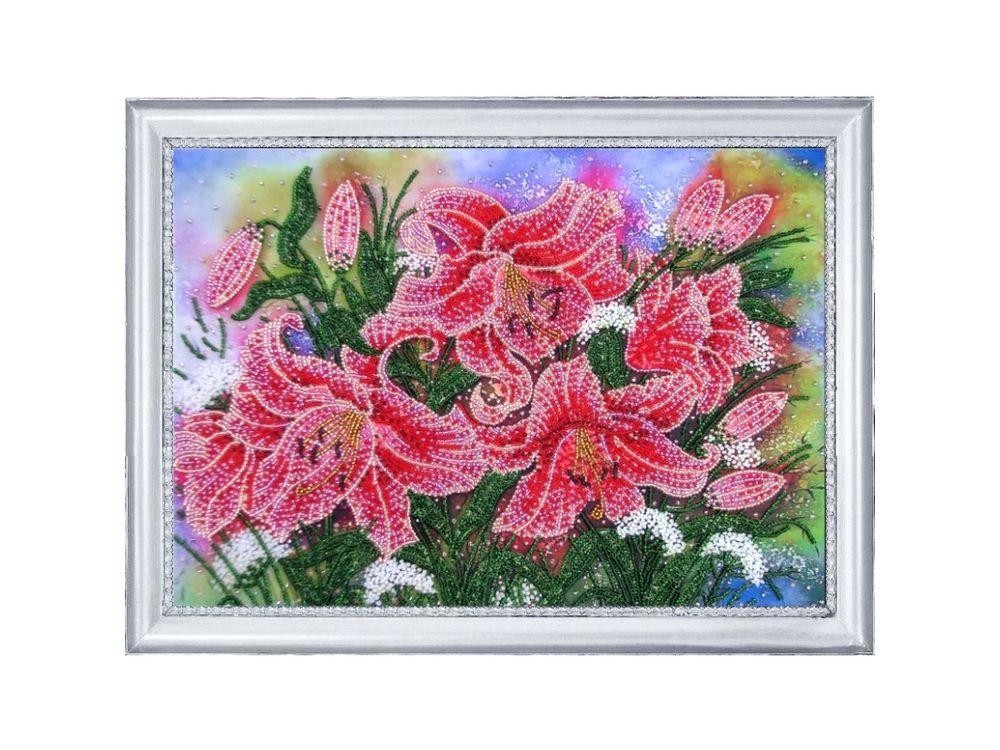 Купить Вышивка бисером, Набор для вышивания бисером «Сияющие лилии», Butterfly, 24x34 см, 228