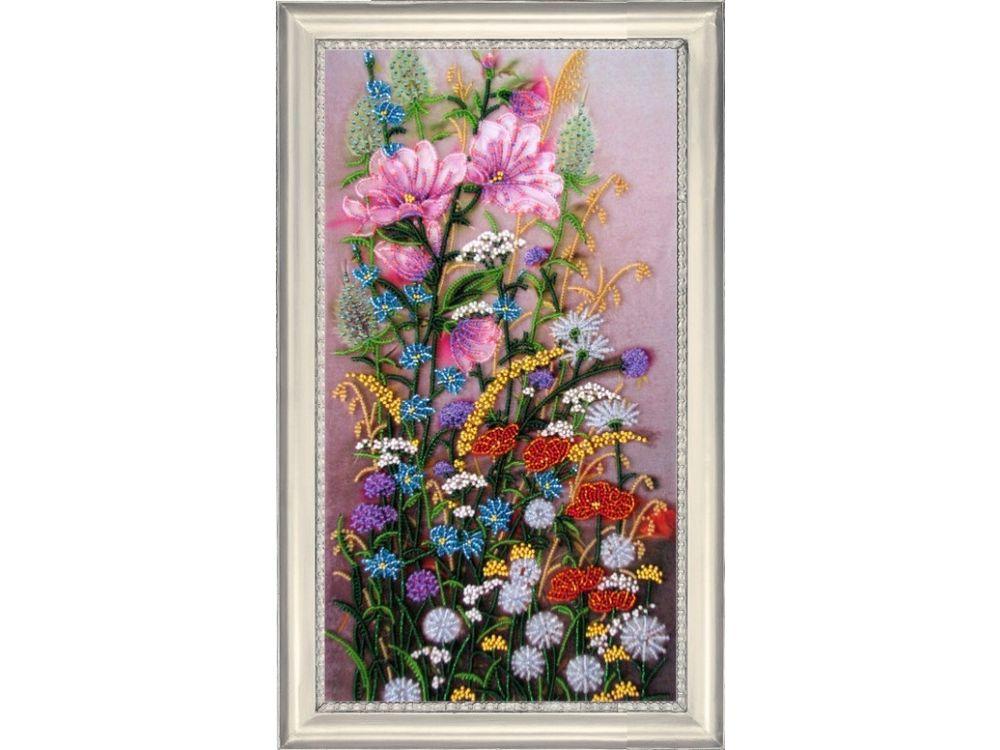 Купить Вышивка бисером, Набор для вышивания бисером «Полевые цветы», Butterfly, 38x21 см, 244