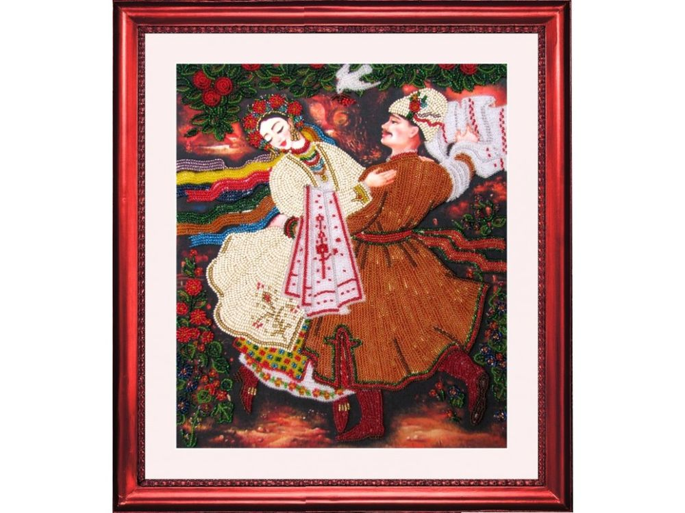 Купить Вышивка бисером, Набор для вышивания бисером «Казачок», Butterfly, 30x26 см, 433