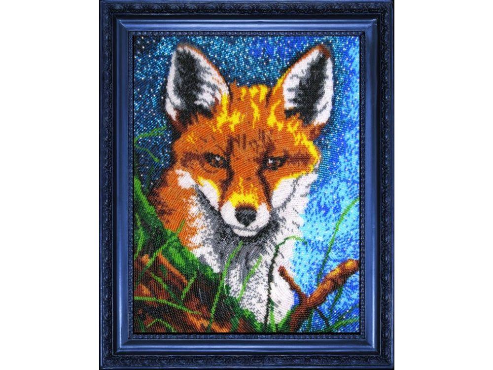 Купить Вышивка бисером, Набор для вышивания бисером «Лисенок», Butterfly, 32x25 см, 566