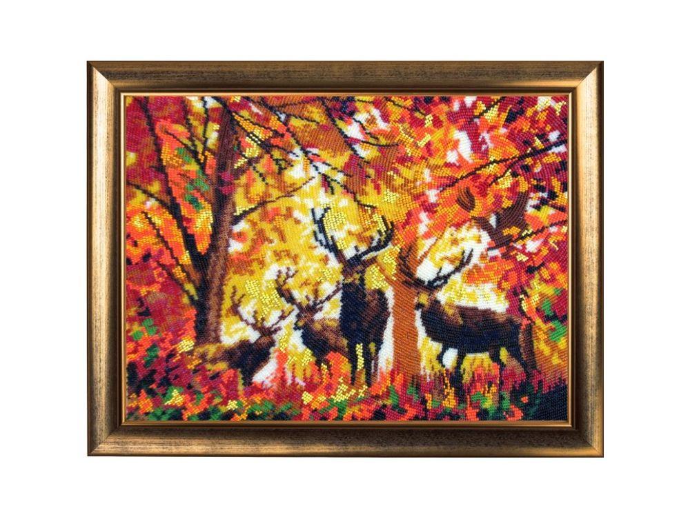 Купить Вышивка бисером, Набор для вышивания бисером «Олени», Butterfly, 25x34 см, 575
