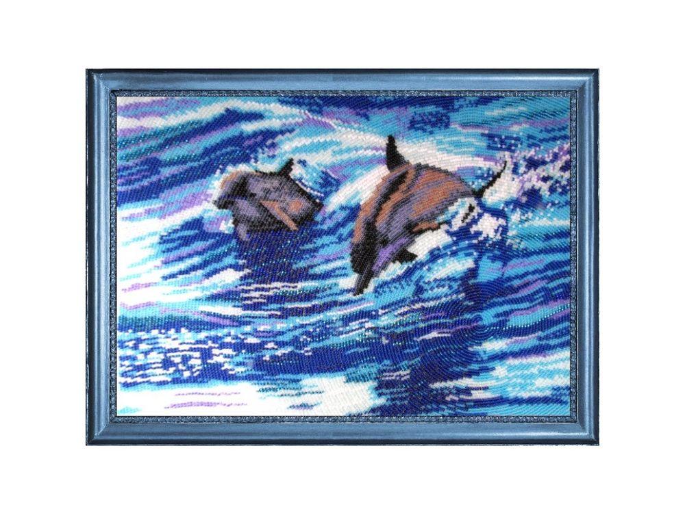 Купить Вышивка бисером, Набор для вышивания бисером «Дельфины», Butterfly, 24x33 см, 578