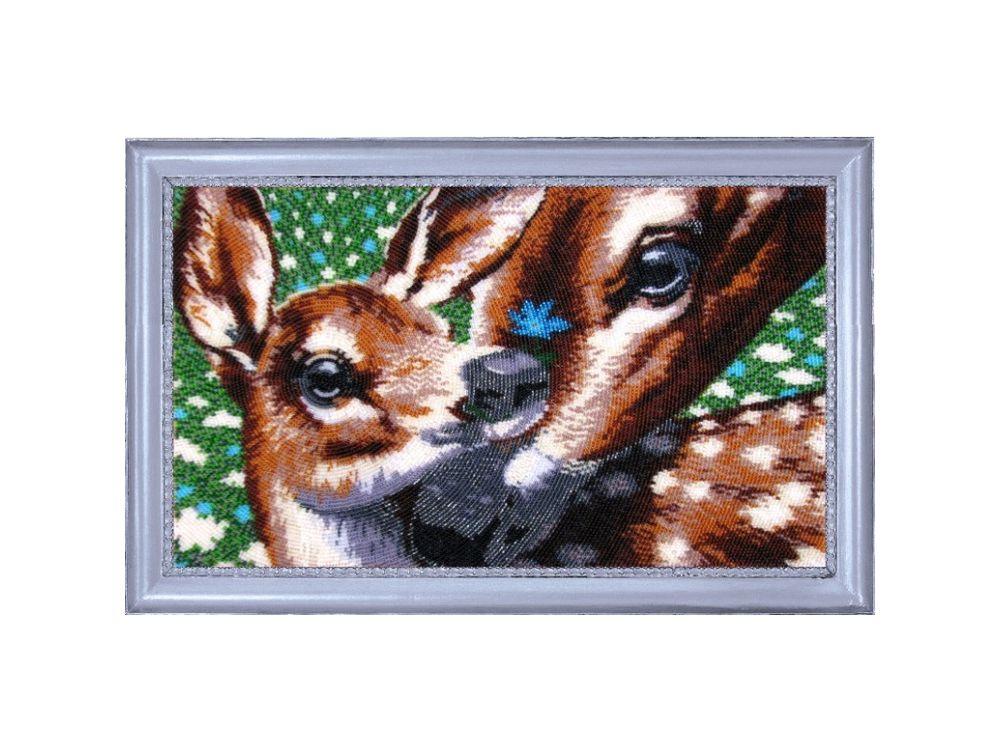 Купить Вышивка бисером, Набор для вышивания бисером «Косули», Butterfly, 22x37 см, 579