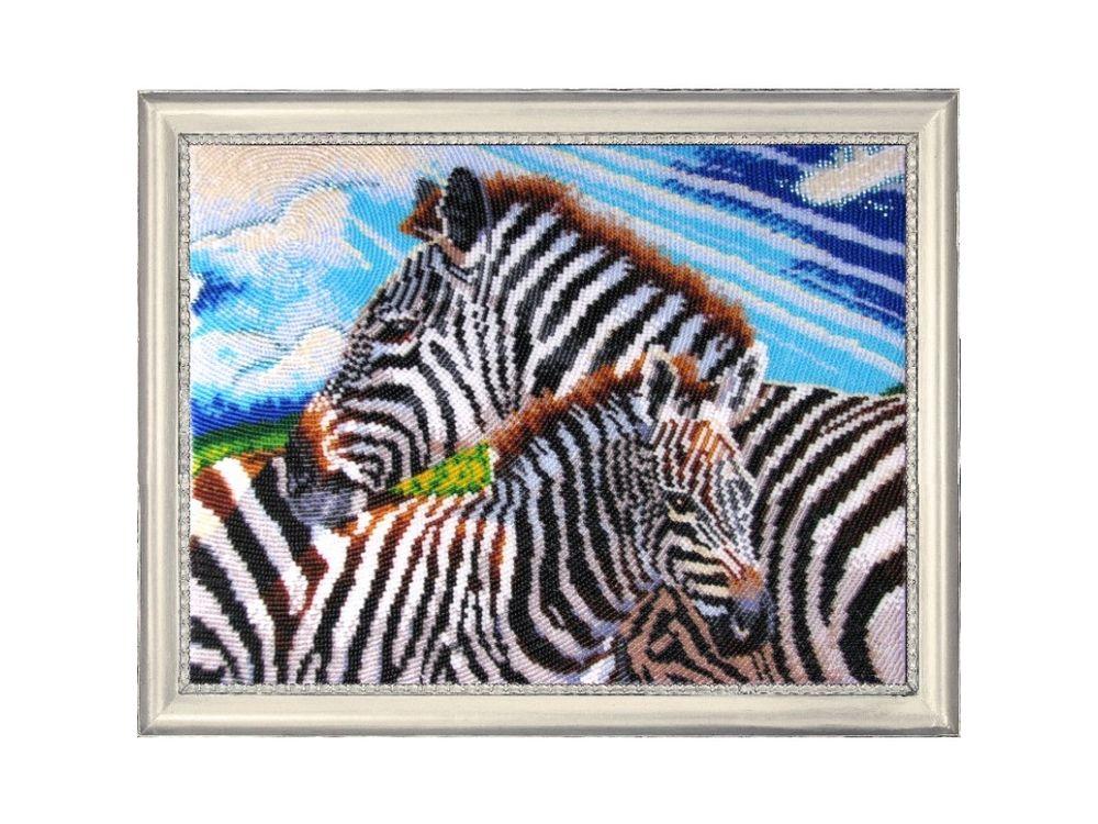 Купить Вышивка бисером, Набор для вышивания бисером «Зебры», Butterfly, 24x32 см, 580