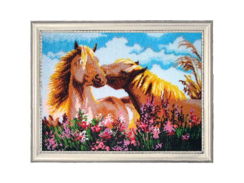 Вышивка бисером, Набор для вышивания бисером «Обожаю тебя», Butterfly, 35x47 см, 591  - купить со скидкой