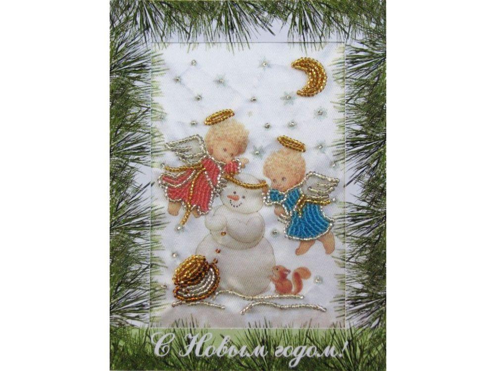 Купить Вышивка бисером, Набор для вышивания бисером «Зимняя забава», Butterfly, 18x14 см, 707