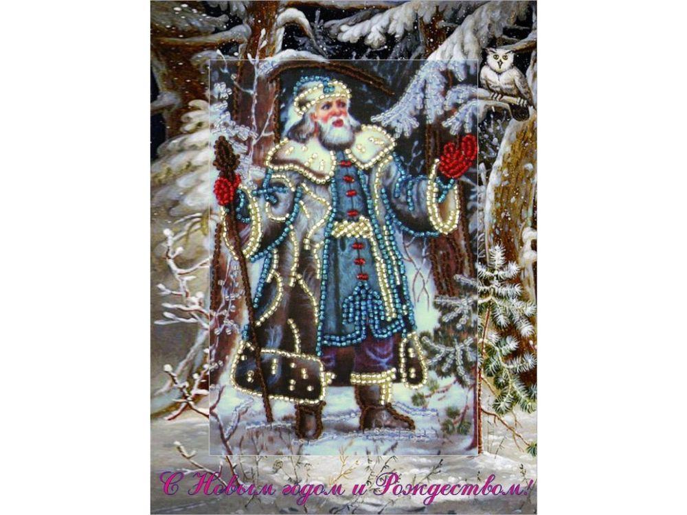 Купить Вышивка бисером, Набор для вышивания бисером «Дед Мороз», Butterfly, 18x14 см, 708