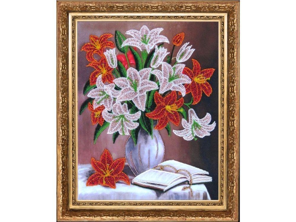 Купить Вышивка бисером, Набор для вышивания бисером «Лилии», Butterfly, 33x26 см, 278