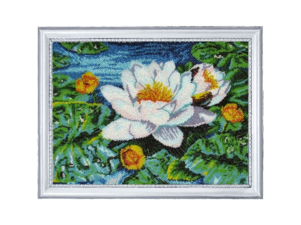 Купить Вышивка бисером, Набор для вышивания бисером «Нимфея озерная», Butterfly, 25x34 см, 279