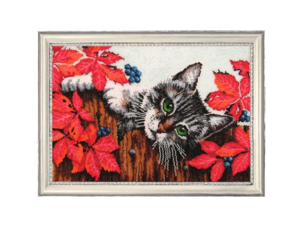 Купить Вышивка бисером, Набор для вышивания бисером «А вот и я!», Butterfly, 25x36 см, 629