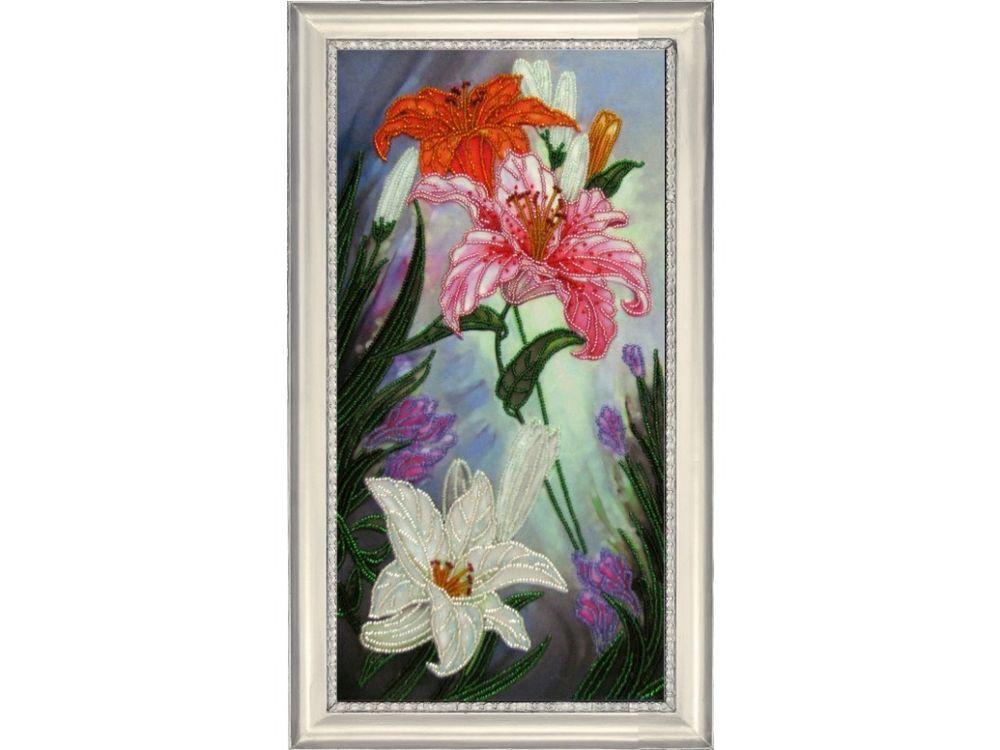 Купить Вышивка бисером, Набор для вышивания бисером «Вальс цветов 2», Butterfly, 39x19 см, 298