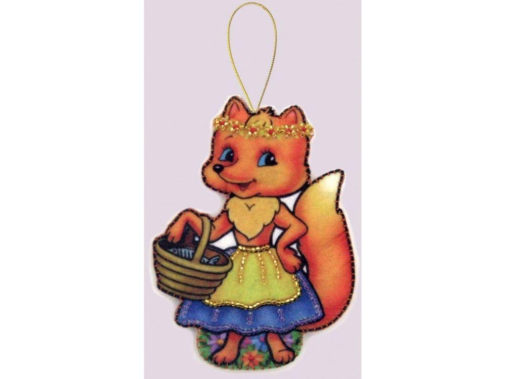 Купить Вышивка бисером, Объемная игрушка «Лисичка», Butterfly, 12x9 см, F109