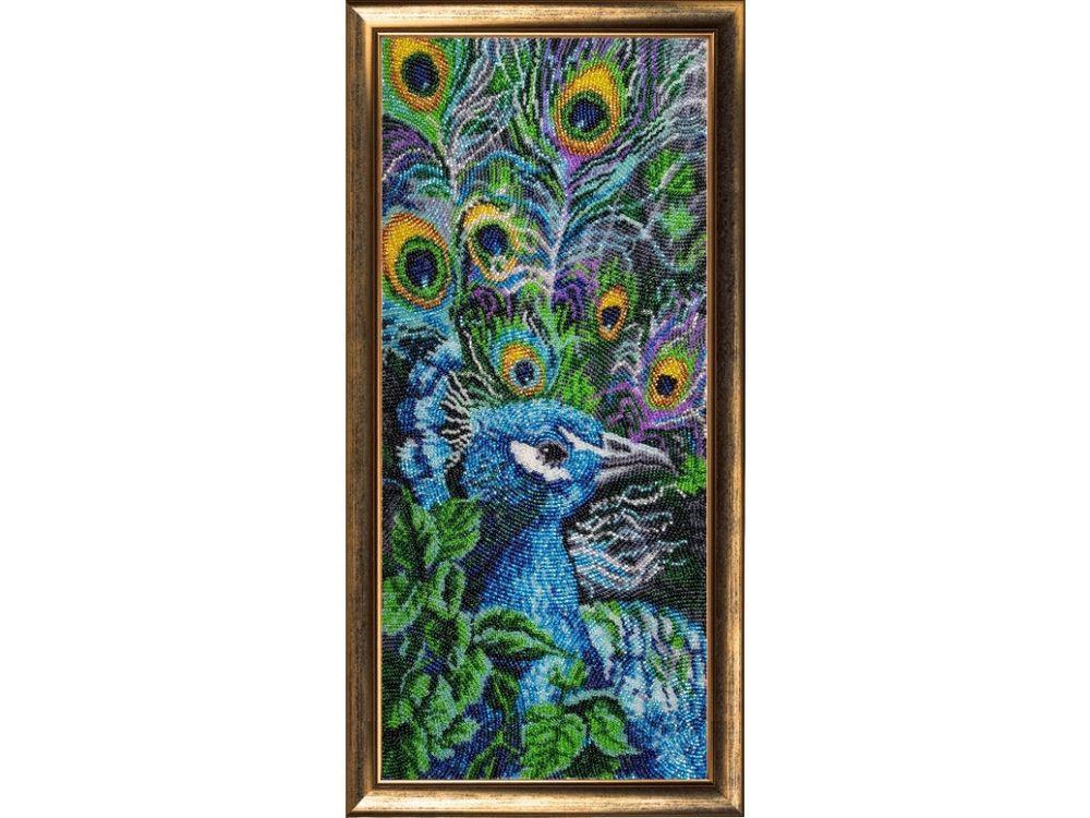 Купить Вышивка бисером, Набор для вышивания бисером «Павлин 2», Butterfly, 41x18 см, 535