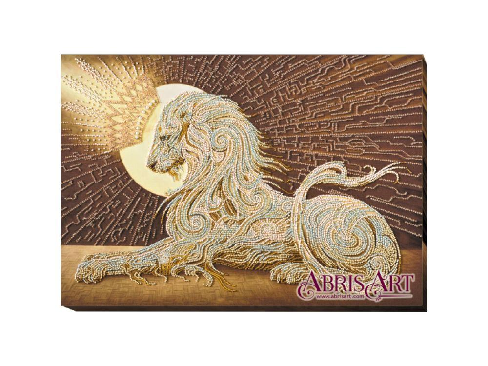 Купить Вышивка бисером, Набор вышивки бисером «Аслан», Абрис Арт, 43x31 см, AB-582