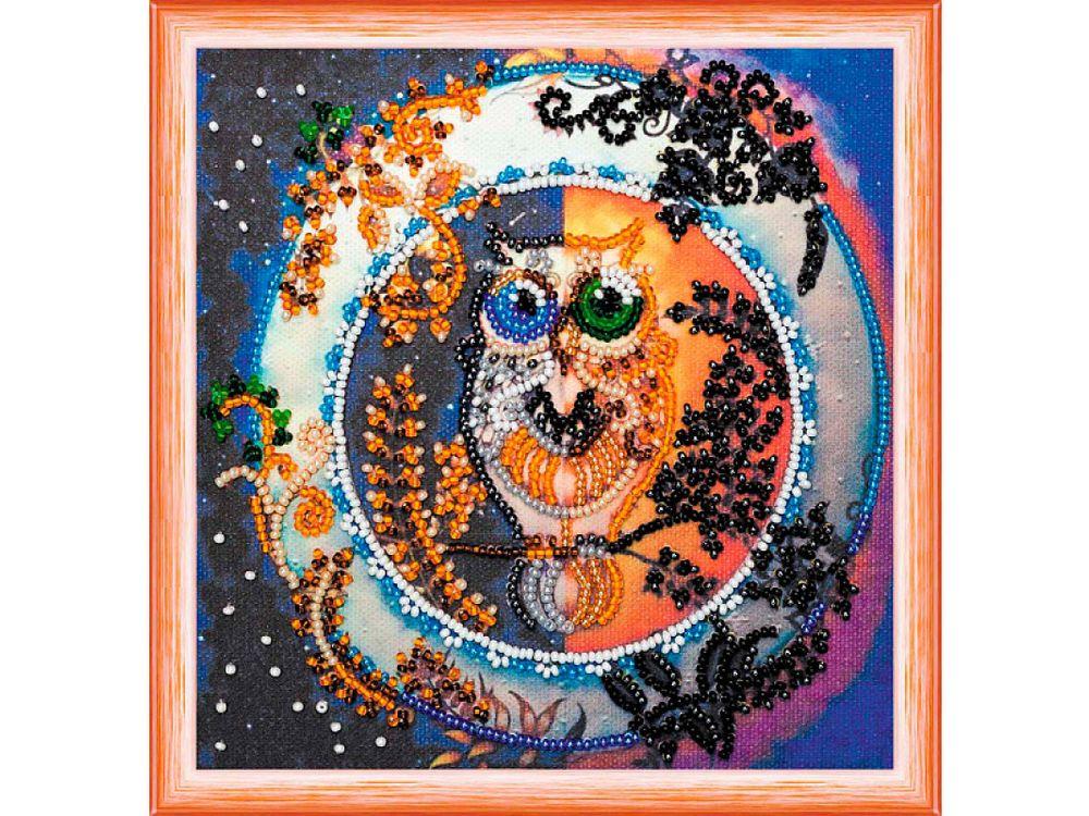 Купить Вышивка бисером, Набор вышивки бисером «День и ночь», Абрис Арт, 15x15 см, AM-141