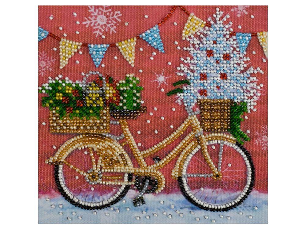 Купить Вышивка бисером, Набор вышивки бисером «Время праздника», Абрис Арт, 15x15 см, AM-176