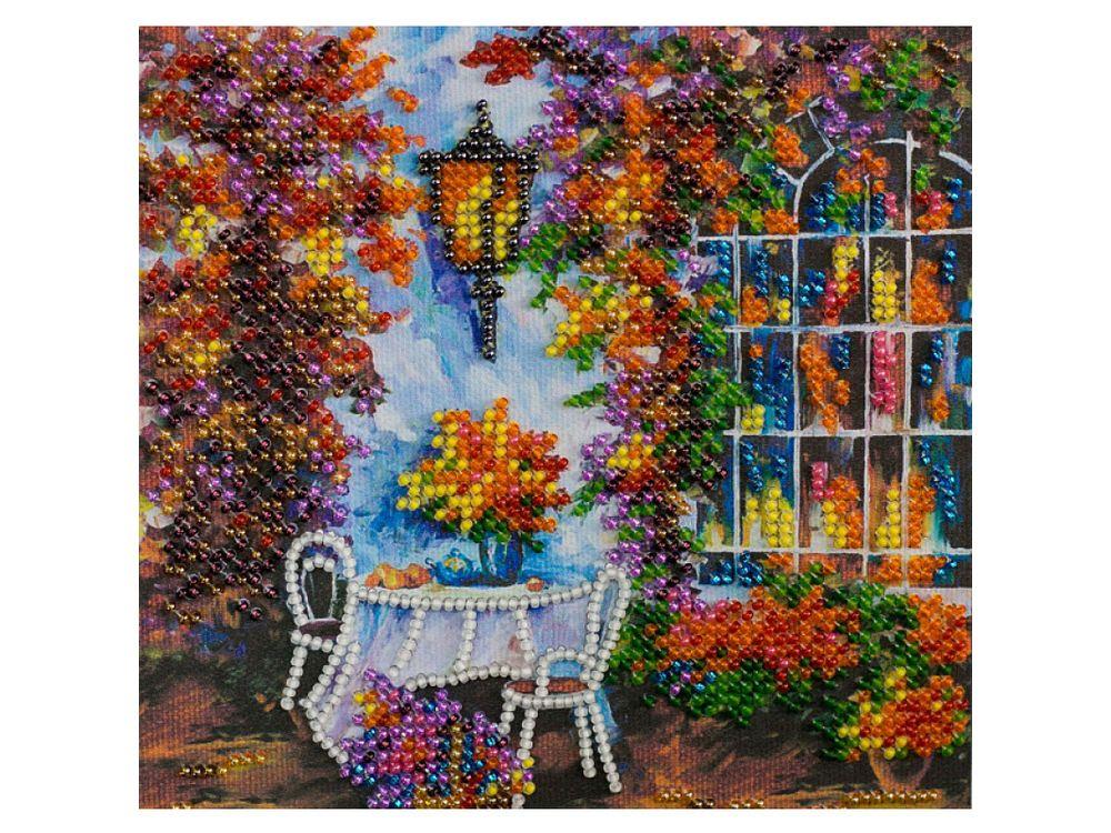 Купить Вышивка бисером, Набор вышивки бисером «Осеннее настроение», Абрис Арт, 15x15 см, AM-178