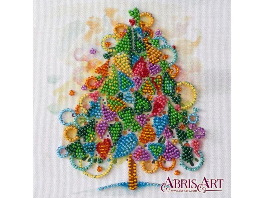 Купить Вышивка бисером, Набор-мини вышивки бисером «Сердце праздника», Абрис Арт, 15x15 см, AM-205