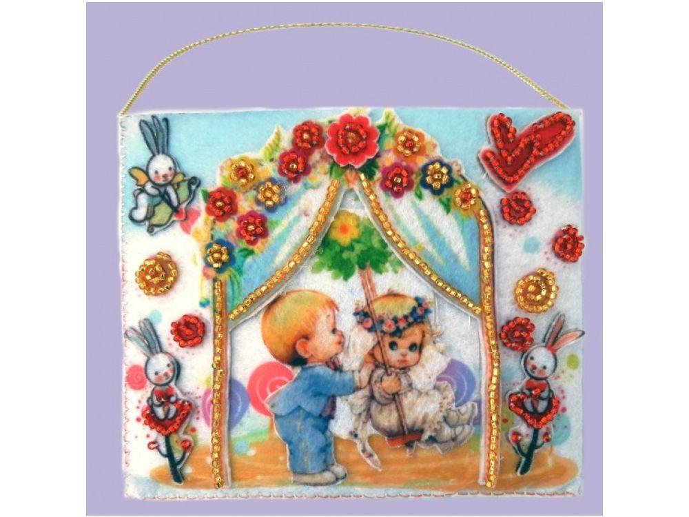 Купить Вышивка бисером, Набор для вышивания бисером «Подарочный конвертик», Butterfly, 12x10 см, F506
