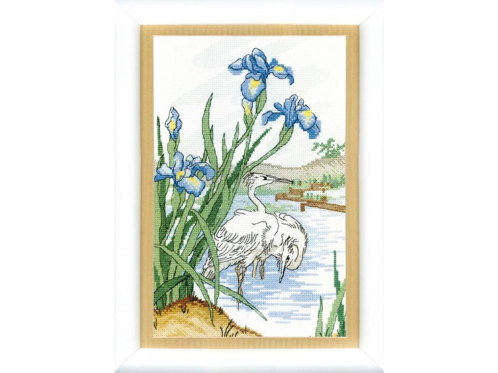 Купить Набор для вышивания «На пруду», Crystal Art, ВТ-049