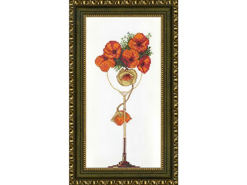 Купить Набор для вышивания «Цветы в бокале», Crystal Art, ВТ-120