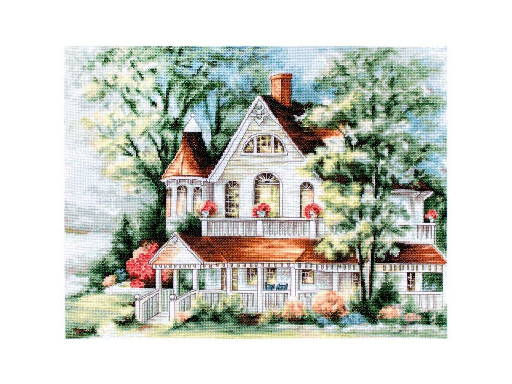 Купить Набор для вышивания «Дом у озера», Luca-S, BU4000