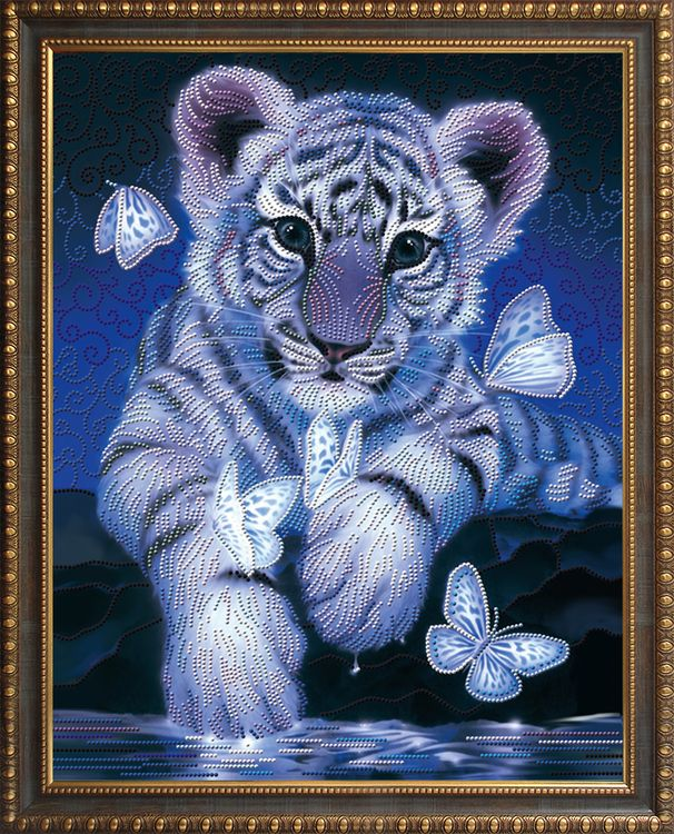 Открытки белыми тиграми