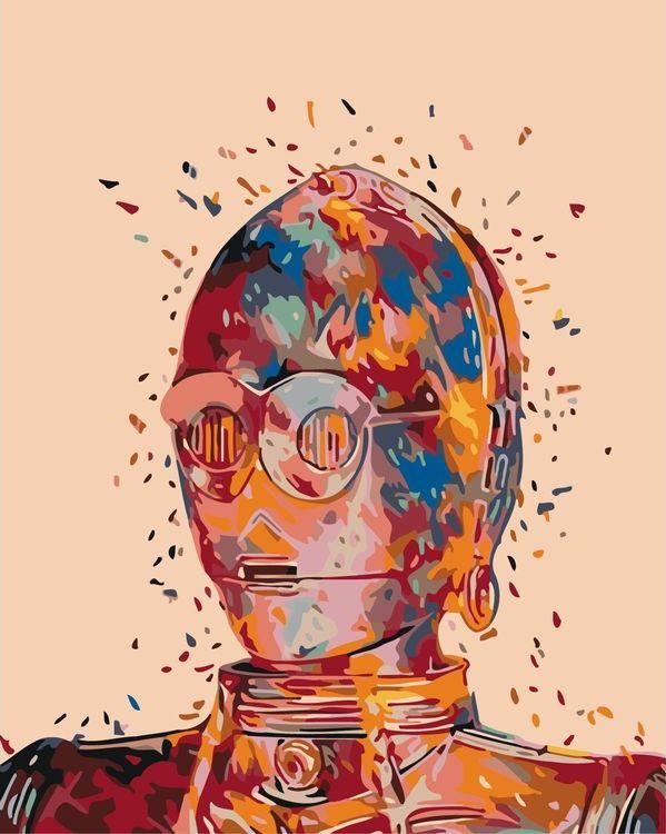 Купить Картина по номерам «C-3PO», Живопись по Номерам, KTMK-95317