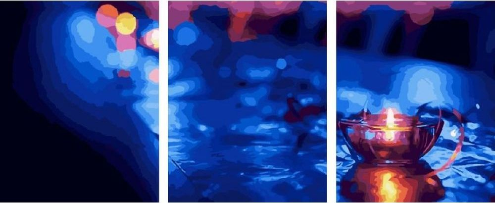 Купить Картина по номерам «Свеча», Paintboy (Premium), 3 шт. 40x50 см, KX-0018
