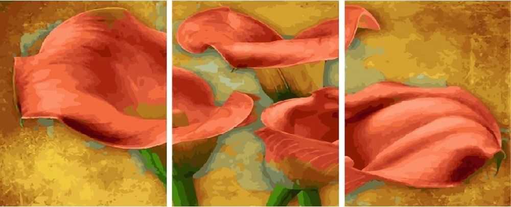 Купить Картина по номерам «Лилии», Paintboy (Premium), 3 шт. 40x50 см, KX-0079