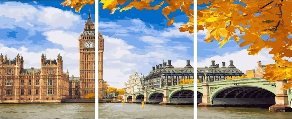 Купить Картина по номерам «Лондон», Paintboy (Premium), 3 шт. 40x50 см, KX-0102